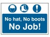 Scan No  Hat, No Boots, No Job - PVC (600 x 400mm)